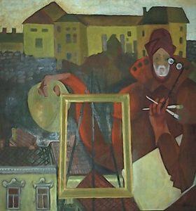 szemán festőművész önarcképe